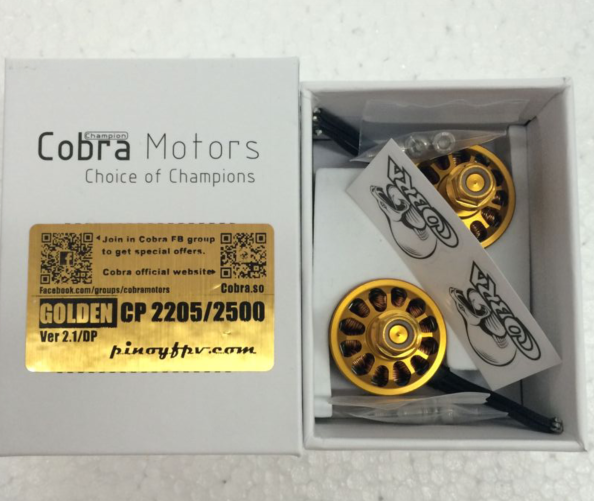 "Cobra Motor 2205 2500KV Champion Series ""Golden"" (2pcs)"