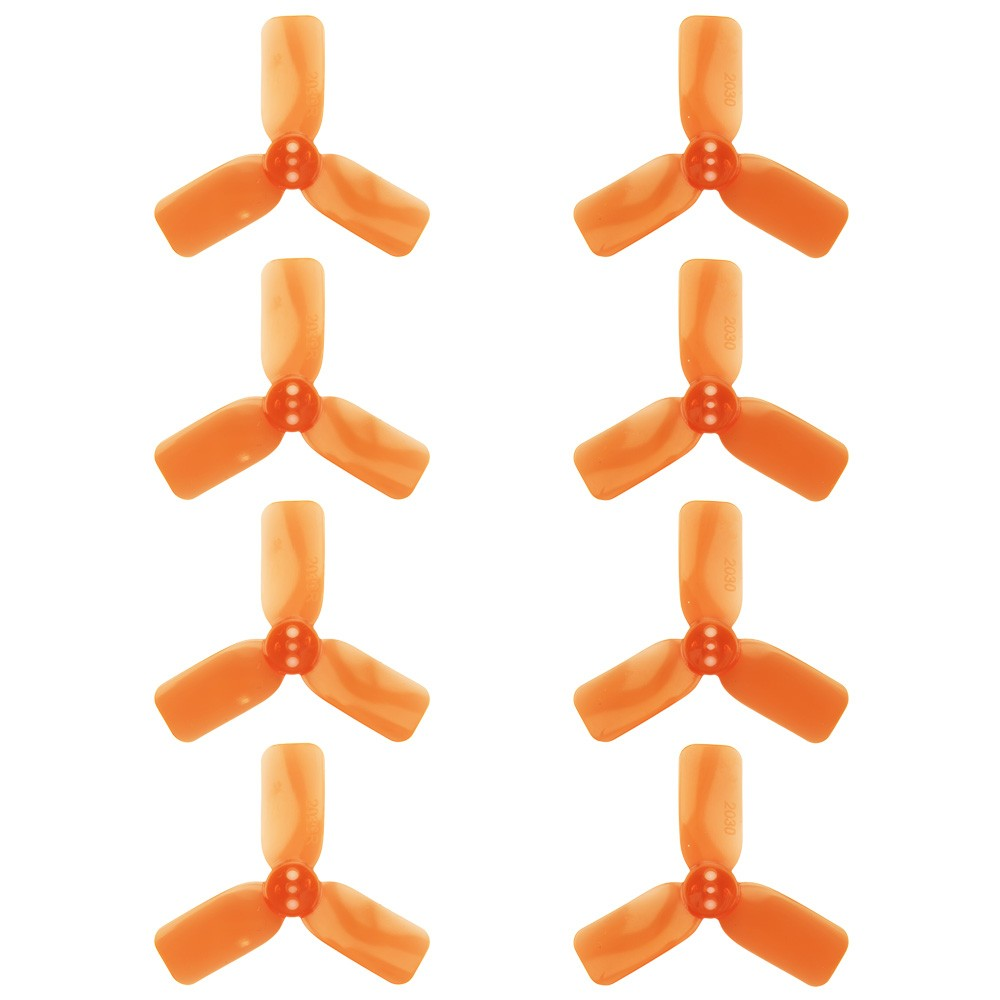 "DYS 2"" 3 Blade, Orange Propeller - Set of 8 (4x CW, 4x CCW)"